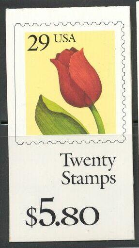 US Stamp #BK185 MNH – Tulips w/ 2 #2527a Panes