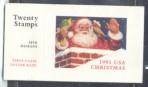 US Stamp #BK194 – MNH Christmas Santa in Chimney w/ 5 Panes #2581b, 2582a-2585a