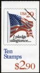 US Stamp #BK198 – 'I Pledge Allegiance…' w/1 Pane #2594a