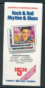 US Stamp #BK207 MNH Rock and Roll Booklet w/4 #2745a Panes