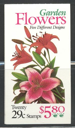 US Stamp #BK215 MNH Flowers Booklet w/4 #2833a Panes
