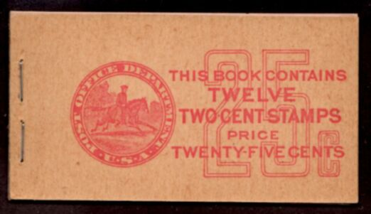 US Stamp #BK 80 Unexploded Booklet w/ 2 Panes #634d and Interleaves