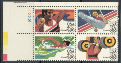 US Stamp #C105-8 MNH – 40c USA AirMail Plate Block of 4