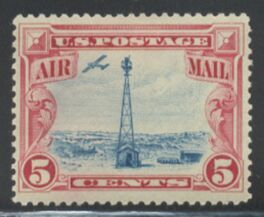 US Stamp #C 11 Mint – Airplane Beacon on Rocky Mountains