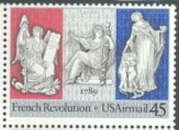 US Stamp #C120 MNH – French Revolution Plate, ZIP, MI Block 20