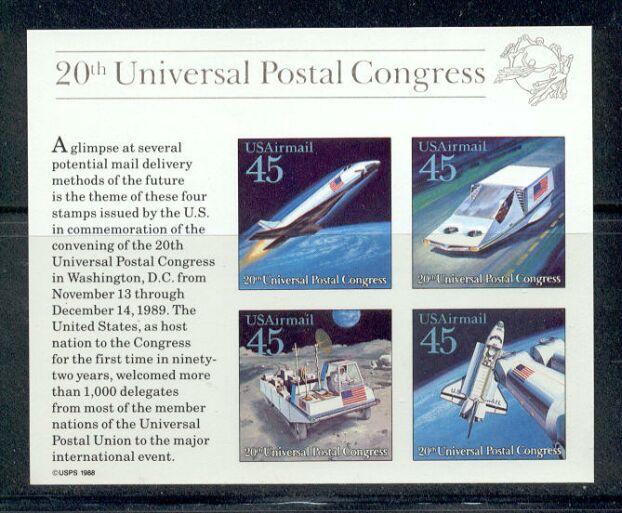 US Stamp #C126 MNH – Universal Postal Congress Souv. Sheet