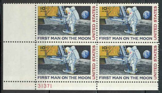 US Stamp #C 76 MNH – 10c USA AirMail Plate Block of 4