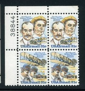 US Stamp #C 91-2 MNH – 31c USA AirMail – Plate Block of 4