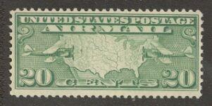 US Stamp #C  9 MNH – Map and Bi-Planes