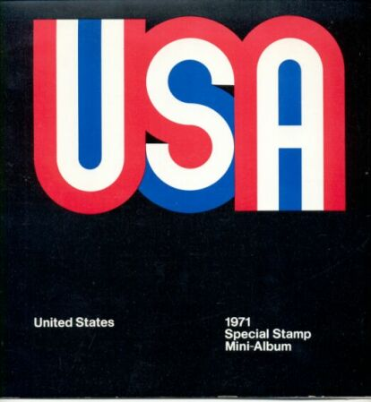 US Stamp Year 1971 Folder and All MNH Stamps