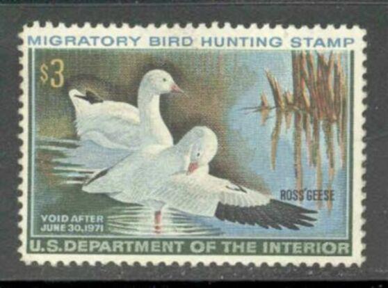 US Scott #RW37 MNH – PHANTASTIC Pair of Ross' Geese