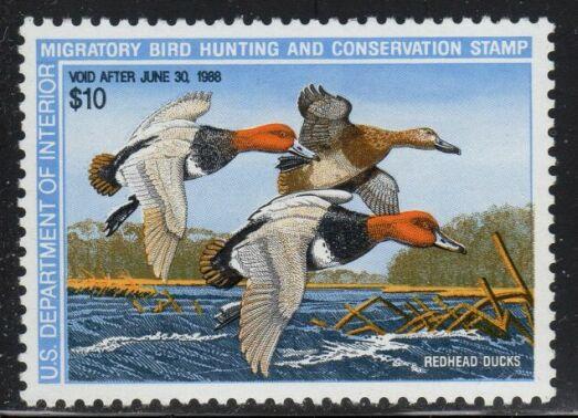 US Scott #RW54 MNH – TREMENDOUS Trio of Redhead Ducks