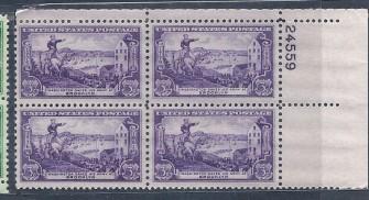 US Stamp #1003 MNH – Washington at Brooklyn – Plate Block of 4