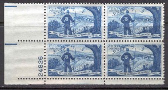 US Stamp #1024 MNH – Future Farmers of America – Plate Block of 4