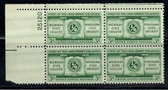US Stamp #1065 MNH – Land Grant Colleges – Plate Block of 4