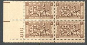 US Stamp #1071 MNH – Fort Ticonderoga – Plate Block of 4