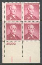 US Stamp #1072 MNH – Andrew Mellon – Plate Block of 4
