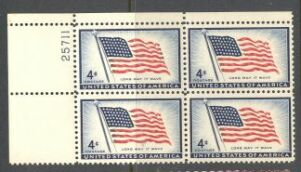 US Stamp #1094 MNH – Old Glory – Plate Block of 4