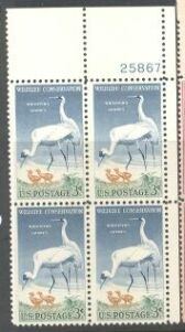 US Stamp #1098 MNH – Wildlife Conservation – Plate Block of 4
