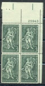 US Stamp #1100 MNH – Gardening and Horticulture – Plate Block of 4