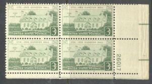 US Stamp #1108 MNH – Gunston Hall – Plate Block of 4