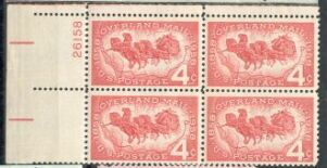 US Stamp #1120 MNH – Overland Mail – Plate Block of 4