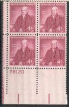 US Stamp #1121 MNH – Noah Webster – Plate Block of 4