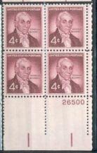 US Stamp #1138 MNH – Ephraim McDowell – Plate Block of 4