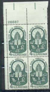 US Stamp #1156 MNH – Forestry – Plate Block of 4