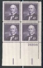US Stamp #1177 MNH – Horace Greeley – Plate Block of 4
