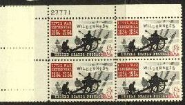 US Stamp #1181 MNH – Battle of the Wilderness – Plate Block of 4
