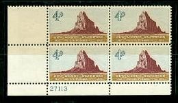 US Stamp #1191 MNH – New Mexico Statehood – Plate Block of 4
