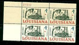 US Stamp #1197 MNH – Louisiana Statehood – Plate Block of 4
