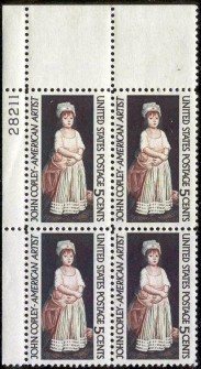 US Stamp #1273 MNH – John Copley – Plate Block of 4