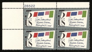 US Stamp #1310 MNH – Sixth Int'l. Phil. Exhibition – Plate Block of 4
