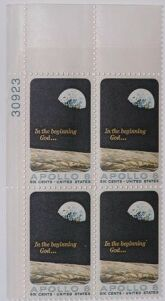 US Stamp #1371 MNH – Apollo 8 – Plate Block of 4