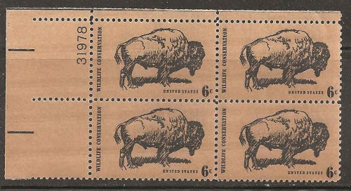 US Stamp #1392 MNH – Wildlife Conservation – Plate Block of 4