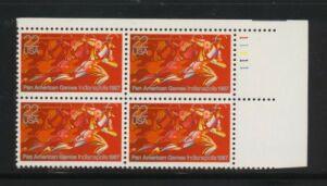 US Stamp #2247 MNH – Pan American Games – Plate Block of 4