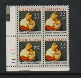 US Stamp #2367 MNH – Madonna and Child – Plate Block of 4