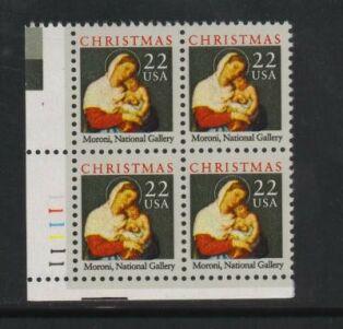 US Stamp #2367 MNH – Madonna and Child – Set of Plate Blocks of 4
