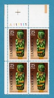 US Stamp #2426 MNH – American Art – Plate Block of 4