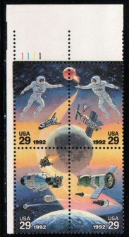 US Stamp #2631-4 MNH – Space Accomplishments – Plate Block of 4