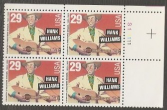US Stamp #2723 MNH – American Music – Williams Plate Block of 4