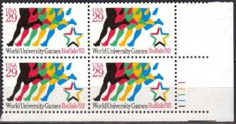 US Stamp #2748 MNH – World University Games – Plate Block of 4