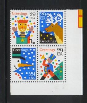 US Stamp #2791-4 MNH Christmas Se-Tenant Plate Block of 4
