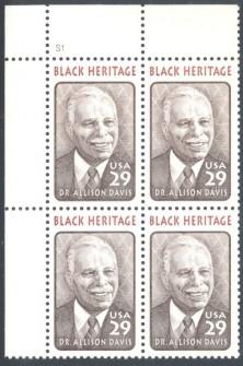 US Stamp #2816 MNH Black Heritage – Davis – Plate Block of 4