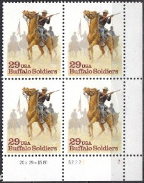 US Stamp #2818 MNH Buffalo Soldiers Plate Block of 4