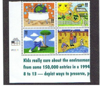 US Stamp #2951-4 MNH – Earth Day – Se-Tenant Plate Block of 4