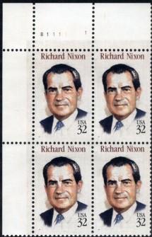 US Stamp #2955 MNH Richard Nixon Plate Block of 4