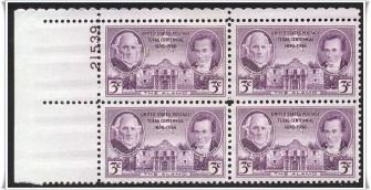 US Stamp #776 MNH – Texas Centenial – Plate Block of 4